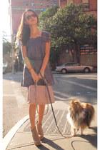 Steve Madden boots - ruffle shoulder See by Chloe dress - Prada bag