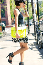 yellow fluoro Cambridge Satchel Company bag