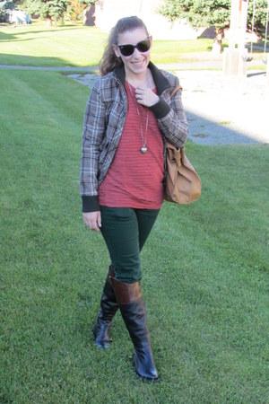 Zara jeans - pull&bear jacket - Forever 21 sweater - pull&bear bag