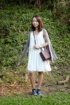 mini mab Rebecca Minkoff bag - white chiffon Glassons dress