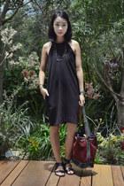 suede vintage bag - black leather Sol Sana sandals