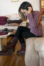 Crimson-dr-martens-boots-black-justusa-jeans-deep-purple-socks