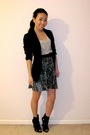 Xhilaration-dress-black-she-said-blazer-quipid-shoes