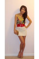 Forever 21 top - XOXO belt - Rampage skirt - Aldo shoes - XOXO