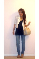 Forever 21 t-shirt - vintage blazer - Forever 21 jeans - BCBGgirls shoes - Louis