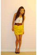 Forever21 shirt - AGI skirt - Forever21 belt