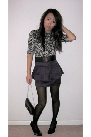 Forever 21 top - Forever 21 skirt - black Forever 21 tights - Steve Madden shoes