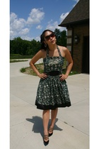 unknown dress - sam edelman shoes - NY&CO earrings - Betsey Johnson glasses