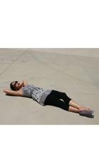 Globus top - leggings - payless shoes - sunglasses - DIY belt