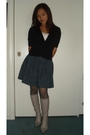 Black-forever-21-cardigan-white-forever-21-top-blue-forever-21-skirt-gray-