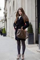 leather shoes - leather Louis Vuitton bag