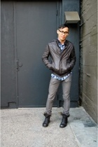 Rick Owens jacket - Thom Browne shirt - april 77 jeans - Rick Owens boots