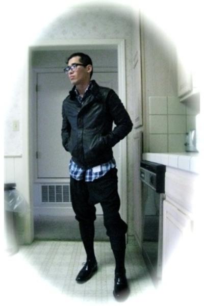 Rick Owens jacket - Thom Browne shirt - pants - Grenson shoes - Uniqlo socks