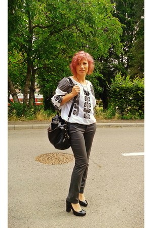 Me blouse - Benvenutti shoes - vintage bag - Zara pants