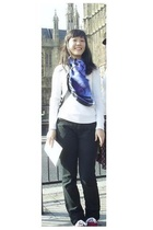 espirit top - scarf - jeans - Keds shoes