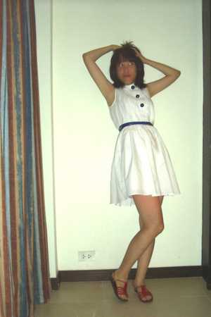 Blue Corner dress - belt - shoes