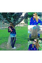 navy made by grandmother sweater - hot pink pull&bear bag