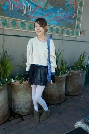 black sheer Target skirt