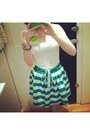 White-star-studded-temt-top-green-temt-skirt