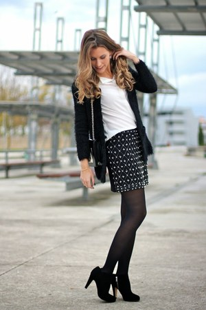 black pearls Libe llule skirt - black Krackonline boots - black Libe llule bag