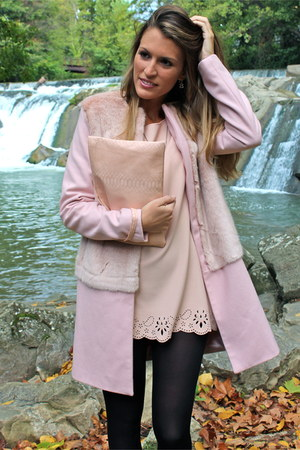 light pink Jus dOrange dress - light pink Zara coat - light pink elle bag