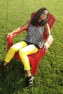 Yellow-forever21-jeans-black-espedrille-heel-dolce-vita-wedges-ivory-top