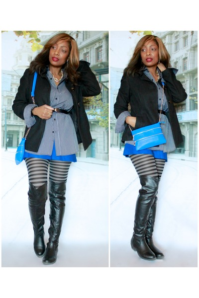 Ardene boots - Old Navy coat - Call it Spring purse
