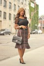 Chanel-bag-forever-21-pumps-winners-skirt-h-m-top