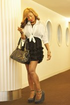 Forever 21 shoes - Bebe dress - winners shirt - Nine West bag