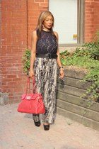Marshalls bag - Forever 21 lace top - Christian Louboutin pumps