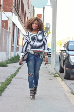 Forever 21 heels - Bebe jeans - Call it Spring purse - Forever 21 top