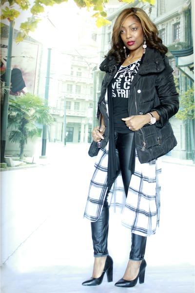 le chateau coat - coach purse - H&M pants - Forever 21 pumps - H&M cardigan