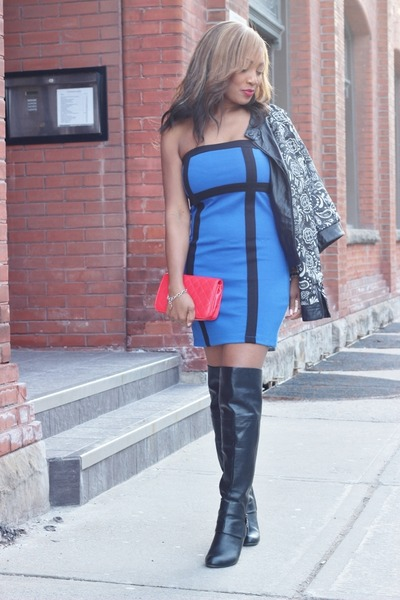 Call it Spring boots - Forever 21 dress - Forever 21 jacket - Chanel purse