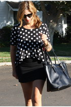 Century 21 blouse - cynthia rowley bag - H&M skirt