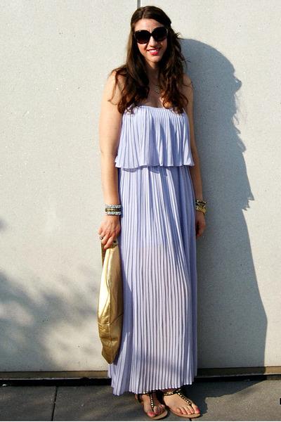 70ae8a23d97 pleated maxi Forever 21 dress - Allison Burns bag
