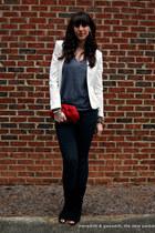 Forever 21 blazer - suede open toe Diane Von Furstenberg boots