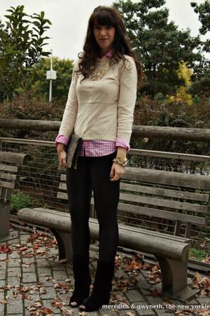 Diane Von Furstenberg boots - knit peplum asos sweater