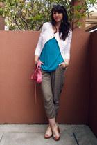 peplum Target blazer - balenciaga bag - tortoise Karen Walker sunglasses