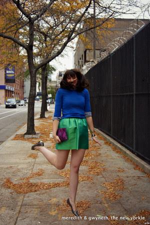 Target bag - cashmere Equipment sweater - gingham Gap shirt