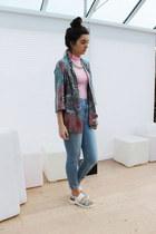Primark necklace - River Island jeans - River Island jacket - Boohoo top
