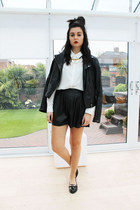 asos jacket - Miss Selfridge shirt - Missguided shorts - Miss Selfridge necklace