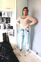 Dorothy Perkins jumper - Topshop jeans - Converse sneakers