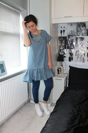 new look necklace - Topshop shoes - Boohoo dress - Dorothy Perkins jeans
