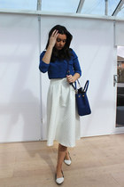 Topshop skirt - River Island shirt - Michael Kors bag - Miss Selfridge flats
