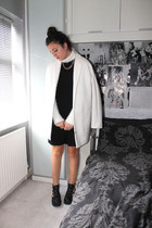 Miss Selfridge jumper - River Island boots - asos dress - Topshop coat