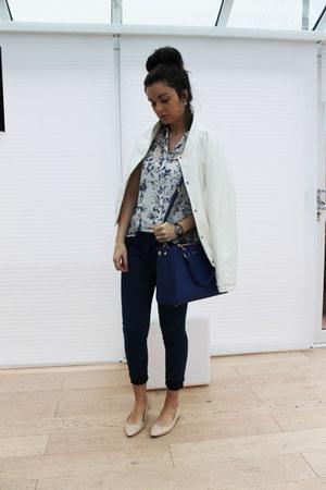 Forever 21 blouse - Dorothy Perkins jeans - Boohoo jacket - Michael Kors bag