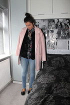 Topshop jacket - River Island coat - River Island jeans - new look shirt