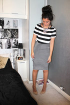 new look necklace - Primark skirt - Dorothy Perkins top - Zara heels