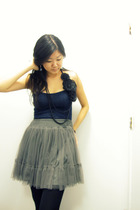 gray Urban Outfitters skirt - blue