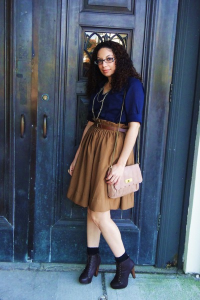 Tawny Full Midi H&M Skirts, Dark Brown Laces, Up Booties Urban ...